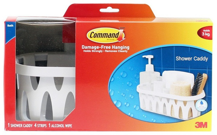 3M COMMAND SHOWER CADDY - 17624B | Bathroom Accessories ...