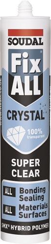 soudal fix all crystal clear sealant 290ml sealants. Black Bedroom Furniture Sets. Home Design Ideas