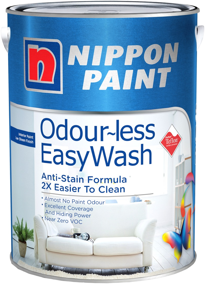 NIPPON PAINT ODOURLESS EASYWASH 1L [1488 COLOURS]
