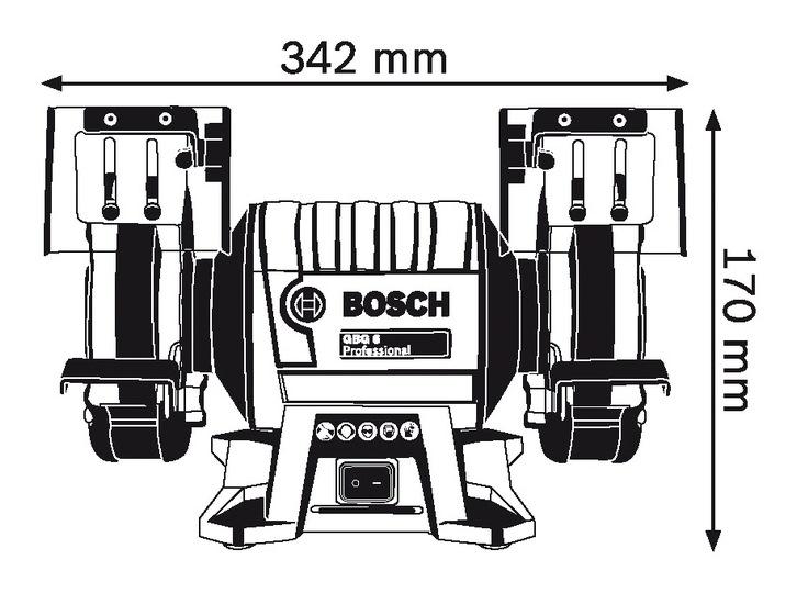 Bosch Bench Grinder 350w Gbg 6 Sanding Amp Grinding