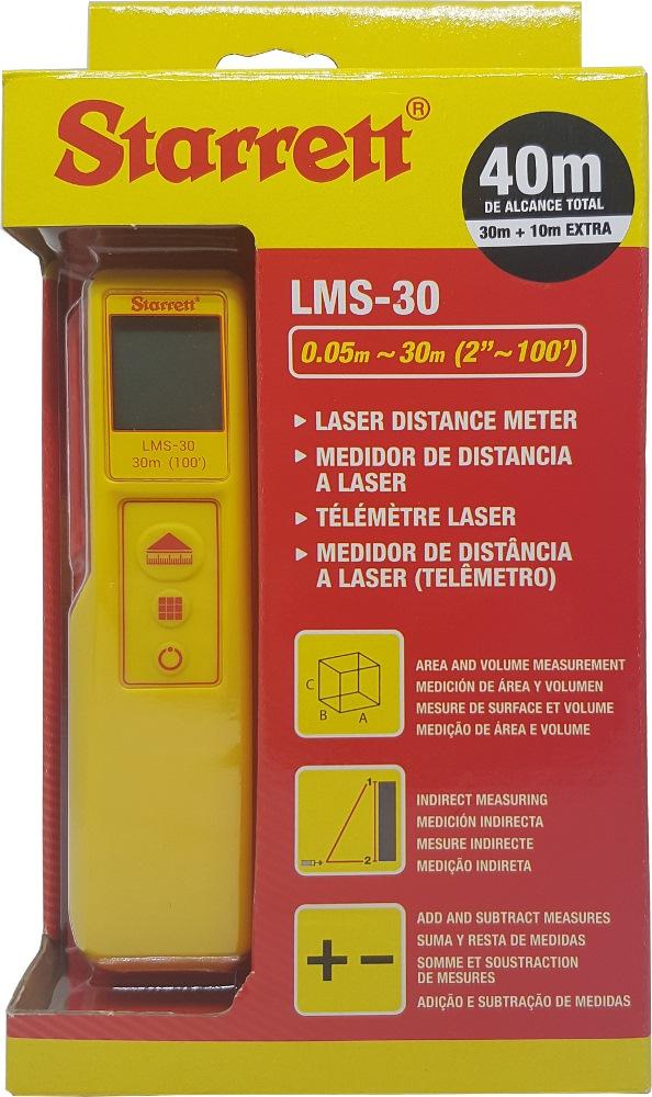 Starrett Laser Distance Meter Lms 30 Ip54 Laser
