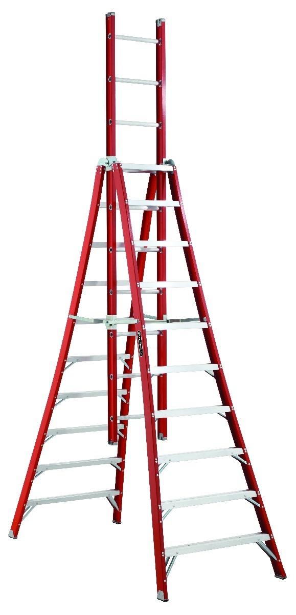 Louisville Hd Fiberglass Trestle Ladder Fx1100 Series