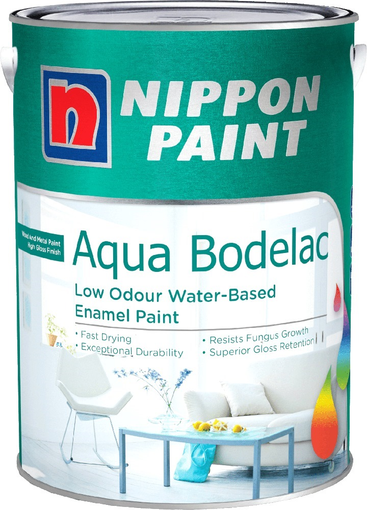 Nippon Paint Aqua Bodelac 1l For Wood Amp Metal 2338